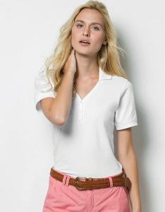 T-Shirt K732 Kustom Kit Sophia Comfortec V Neck Polo Shirt