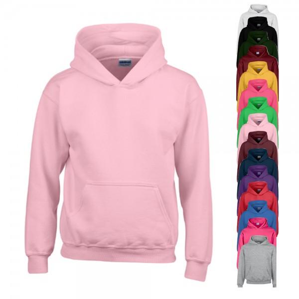 G18500K Gildan Heavy Blend Youth Hooded Sweatshirt hellrosa