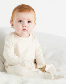 Babybugz Baby Organic Sleepsuit with Scratch Mitts BZ35