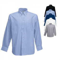 Fruit of the Loom Long Sleeve Oxford Hemd
