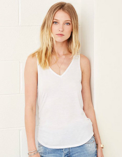 Bella Flowy V-Neck Tank Top BL8805