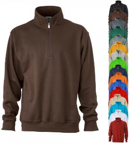 jamesnicholson-workwear-half-zip-sweatshirt-stehkragen-reissverschluss-jn831