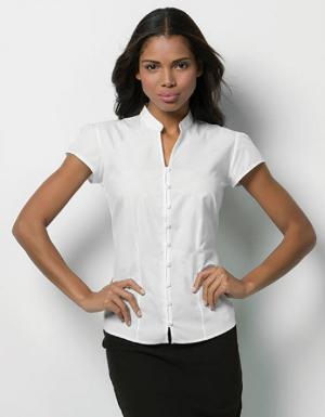 kustom-kit-poplin-contintental-blouse-mandarin-collar-cap-sleeve-k727