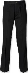 Henbury Herren Chino Hose mit Teflon-Beschichtung schmutzabweisend Farbe Black