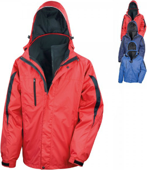 Result Mens 3 in 1 Softshell Journey Jacket RT400