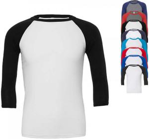 Canvas Unisex Sleeve Baseball T-Shirt CV3200