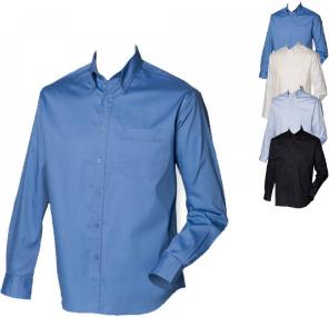 Henbury Langarm Oxford Hemd für Herren Easy-Care Ausrüstung W550
