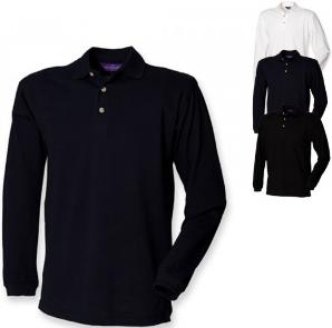 Henbury Langarm Pique Polo Shirt W105
