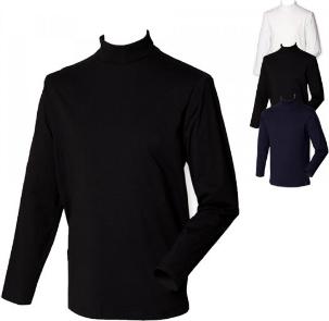 Henbury Rollkragen Langarm Shirt W020