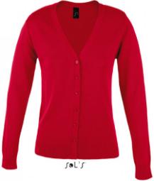 SOLS Damen Cardigan V-Ausschnitt Rot L419