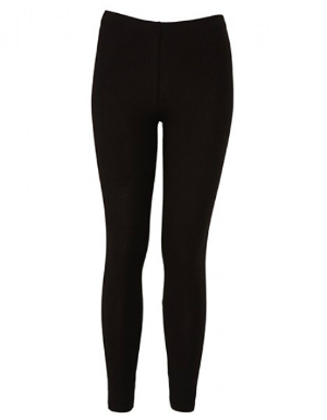 Bella Damen Cotton Stretch Leggings Schwarz