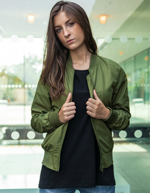 Build Your Brand Damen Bomberjacke Nylon BY044