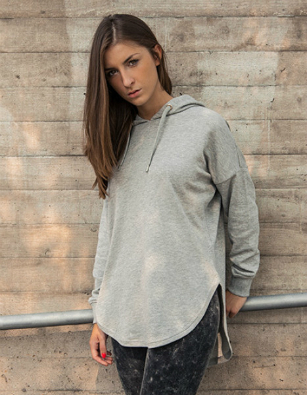 Build Your Brand Ladies Oversized Hoodie BY037