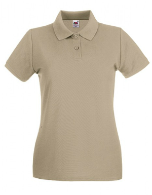 Fruit of the Loom Lady-Fit Premium Polo Khaki