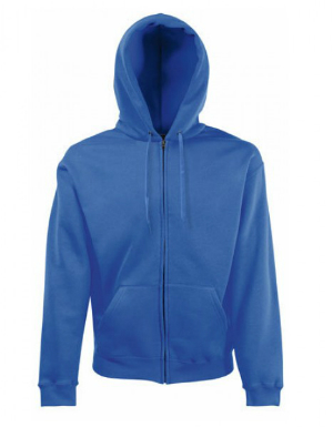 Fruit of the Loom Zip Through Hooded Sweat-Jacke Royal Blue