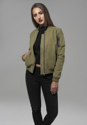 Urban Classics Ladies Peached Bomber Jacket