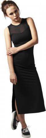 Kleid mit transparenten Mesheinsaetzen