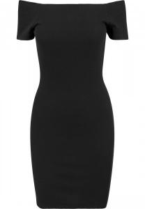 Schulterfreies Kleid mit kurzen Aermeln