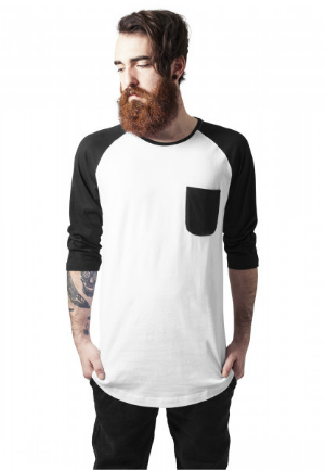 Long Raglan 3/4 Sleeve Pocket Tee