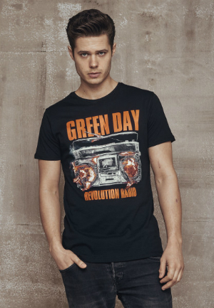 Green Day Radio Tee Band Shirt fuer Herren