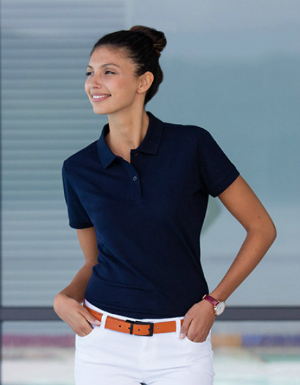 Henbury Ladies Micro-Fine Pique Polo Shirt W102