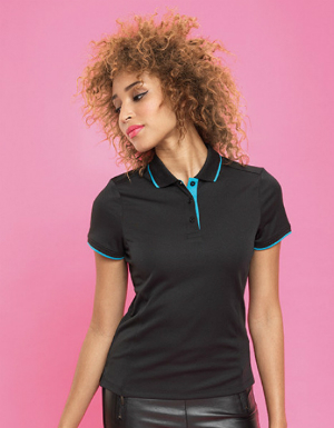 Premier Workwear Ladies Contrast Coolchecker Polo PW619