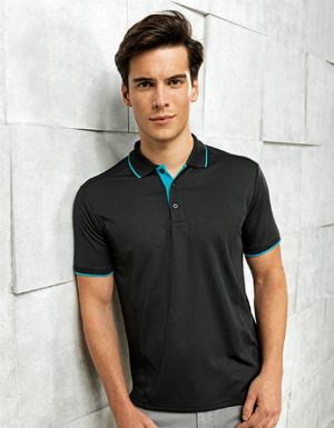 Premier Workwear Mens Contrast Coolchecker Polo PW618
