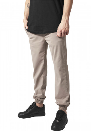 Stretch Twill Jogging Pants
