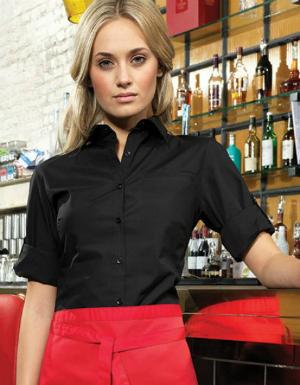 Bluse mit variabler Armlaengenverstellung femininer Schnitt