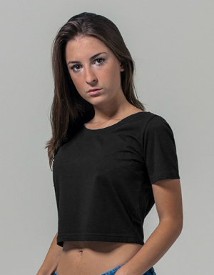 Build Your Brand Ladies Cropped Tee BY042