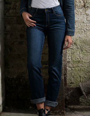 Jeans aus Stretch-Denim gerade Passform