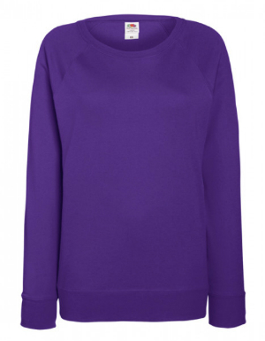 Damen Sweatshirt von Fruit of the Loom Farbe Lila