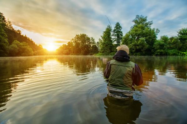 Outdoor-Weste fuer Angler