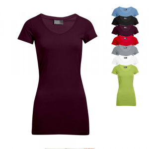 Promodoro Womens Slim Fit V-Neck-T Long E3087
