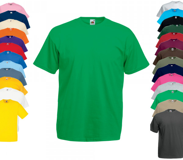 T-Shirt in grossen Groessen von Fruit of the Loom Valueweight