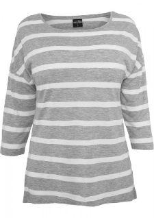 Ladies Loose Striped Tee