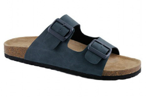 Softwaves Herrenpantolette offen navy