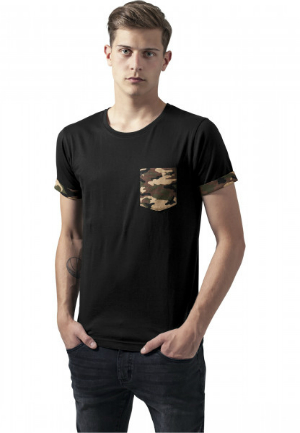 T-Shirt Camo Contrast Pocket