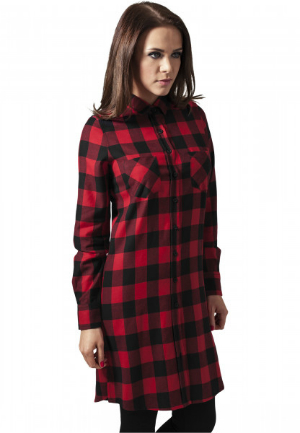 Checked Flanell Shirt Kleid