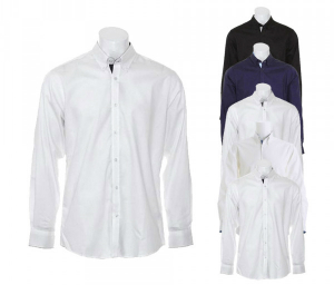 Kustom Kit Contrast Premium Oxford Shirt Button Down