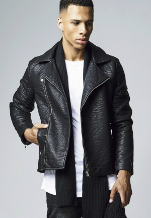 Urban Classics Leather Imitation Biker Jacket