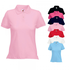 Fruit of the Loom Lady Fit Polo Rosa