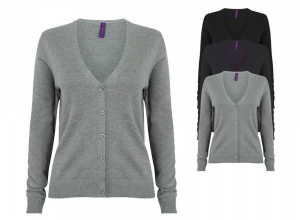 Henbury Ladies Lightweight V-Neck Short Cardigan