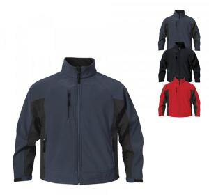 Jacke aus wasserabstossendem Teflon DWR Polyester und Elasthan im Verbund mit Microfleece