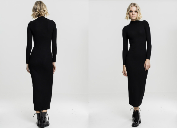 Langes Turtleneck Kleid fuer Damen