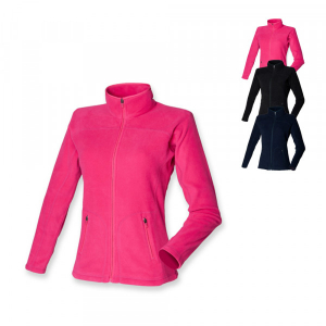 SF Women Ladies Microfleece Jacket Fuchsia