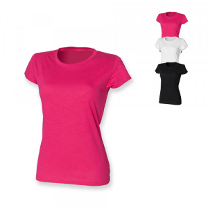 SF Women Ladies Slub T Fuchsia