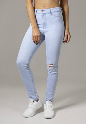Damen High Waist Skinny Denim Hose von Urban Classics