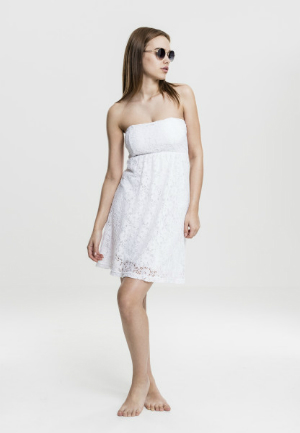 Damen Laces Kleid Weiss