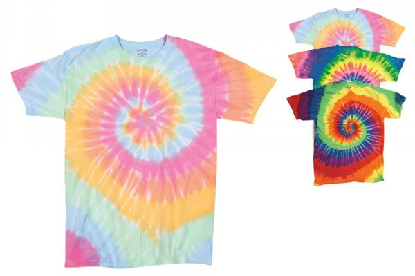 Dyenomite Multi-Color Spirals T-Shirt